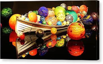 Glass Sculpture Boat Canvas Print