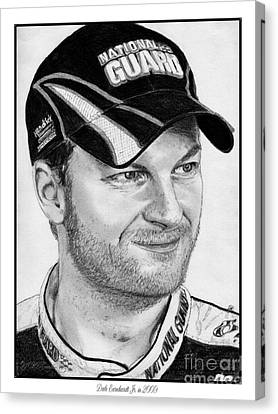 Dale Earnhardt Jr In 2009 Canvas Print by J McCombie