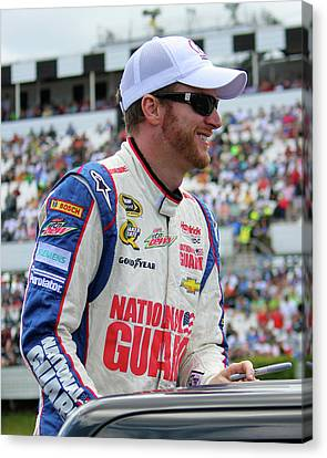 Jr Motorsports Canvas Print - Dale Earnhardt Jr. by Mark A Brown
