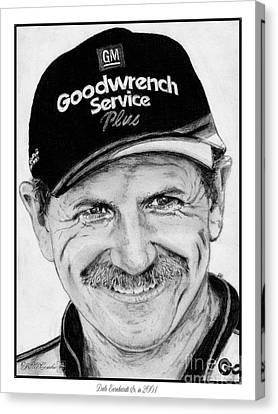Dale Earnhardt Sr In 2001 Canvas Print by J McCombie