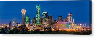 Dallas After Dark Canvas Print by Tod and Cynthia Grubbs
