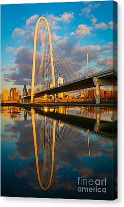 Dallas Afternoon Clouds Canvas Print by Inge Johnsson