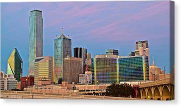 Dallas At Dusk Canvas Print by Frozen in Time Fine Art Photography