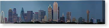 Dallas At Night Canvas Print by Jonathan Davison