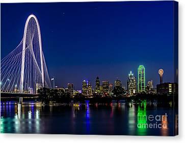 Dallas At Night Canvas Print by Tamyra Ayles