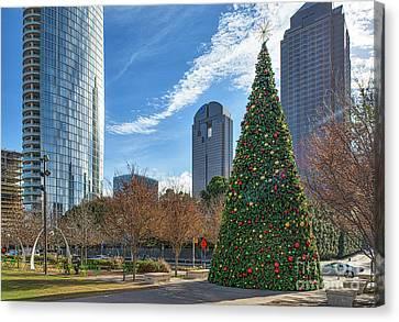 Dallas Christmas Tree Canvas Print by Tod and Cynthia Grubbs