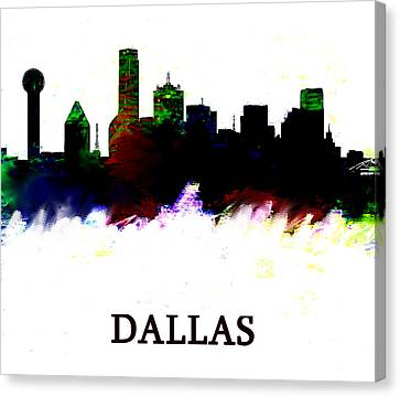 Dallas Color Skyline 3  Canvas Print by Enki Art