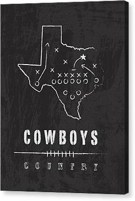 Dallas Cowboys Art - Nfl Football Wall Print Canvas Print