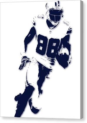 Football Canvas Print - Dallas Cowboys Dez Bryant by Joe Hamilton