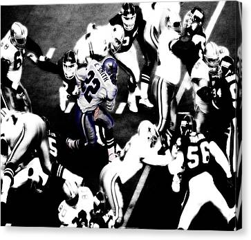Dallas Cowboys Emmitt Smith Canvas Print by Brian Reaves