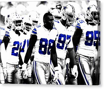 Dallas Cowboys Here We Come Canvas Print by Brian Reaves