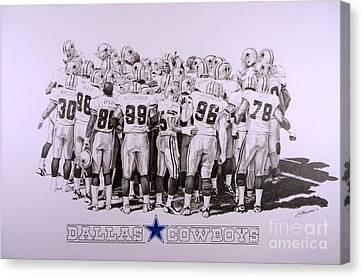 Dallas Cowboys Canvas Print by Shawn Stallings