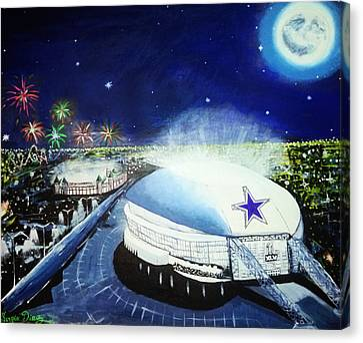 Dallas Cowboys Stedium Canvas Print by Sergio Diaz