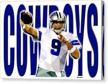 Canvas Print featuring the digital art Dallas Cowboys by Stephen Younts