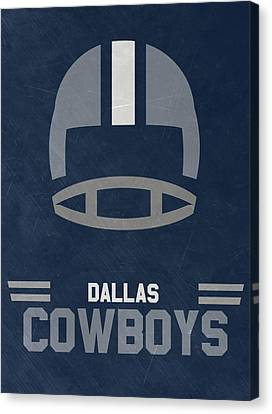 Football Canvas Print - Dallas Cowboys Vintage Art by Joe Hamilton