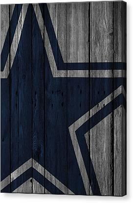 Dallas Cowboys Wood Fence Canvas Print by Joe Hamilton