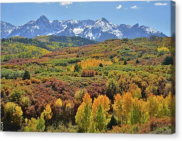 Canvas Print featuring the photograph Dallas Divide Afternoon by Ray Mathis