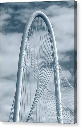 Dallas Hunt Hill Bridge With Clouds Canvas Print by Tod and Cynthia Grubbs