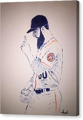 Dallas Keuchel Give Thanks Canvas Print by Jack Bunds