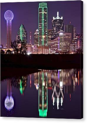 Dallas Lights Canvas Print by Frozen in Time Fine Art Photography