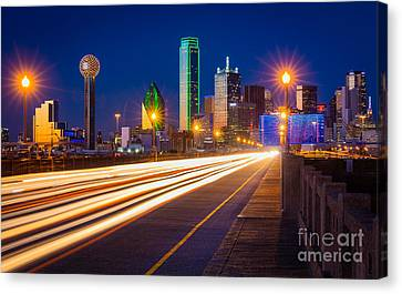 Dallas Lights Canvas Print by Inge Johnsson