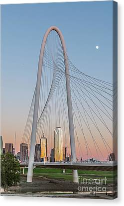 Dallas Margaret Hunt Hill Bridge Canvas Print by Tod and Cynthia Grubbs