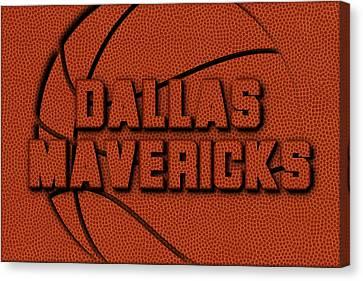 Dallas Mavericks Leather Art Canvas Print