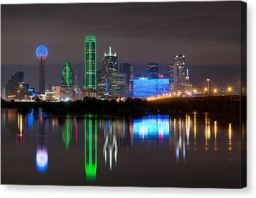 Dallas Night Out Canvas Print by Rospotte Photography