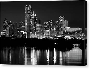 Dallas Nights Bw 6816 Canvas Print