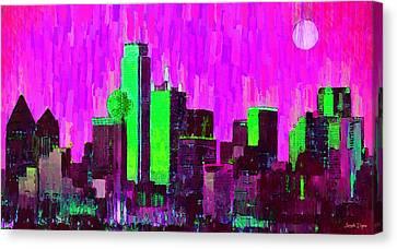 Dallas Skyline 64 - Pa Canvas Print by Leonardo Digenio