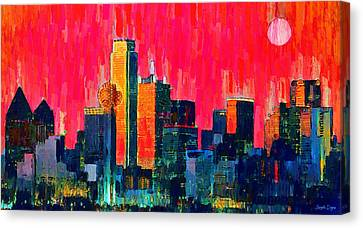 Dallas Skyline 71 - Pa Canvas Print by Leonardo Digenio