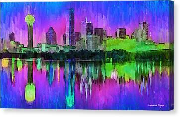 Dallas Skyline 8 - Pa Canvas Print