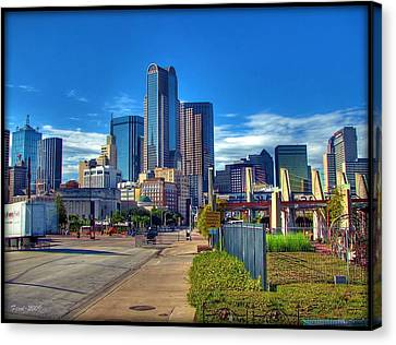 Canvas Print featuring the photograph Dallas Skyline by Farol Tomson