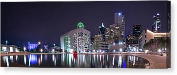 Dallas Skyline From City Hall Canvas Print by Tod and Cynthia Grubbs