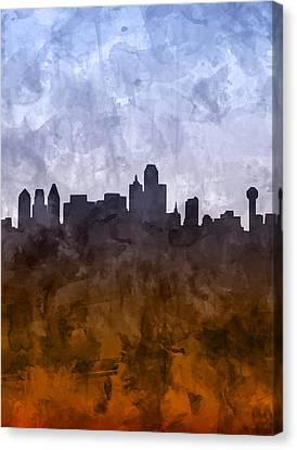 Dallas Skyline Grunge Canvas Print
