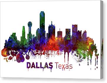 Dallas Texas Skyline Canvas Print by Kevin O'Hare