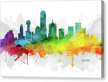 Dallas Skyline Canvas Print - Dallas Skyline Mmr-ustxda05 by Aged Pixel