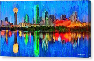 Dallas Skyline - Pa Canvas Print by Leonardo Digenio