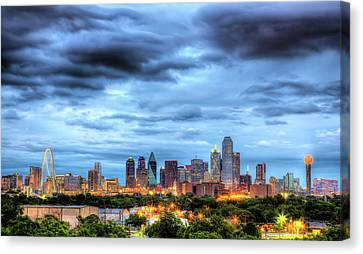 Dallas Canvas Print - Dallas Skyline by Shawn Everhart