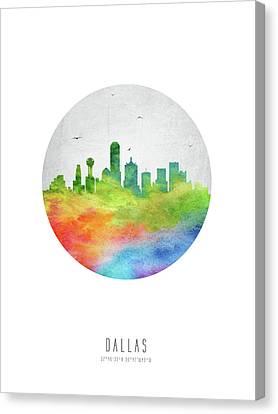 Dallas Skyline Canvas Print - Dallas Skyline Ustxda20 by Aged Pixel