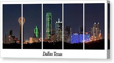 Dallas Skyline Windows 020217 Canvas Print by Rospotte Photography