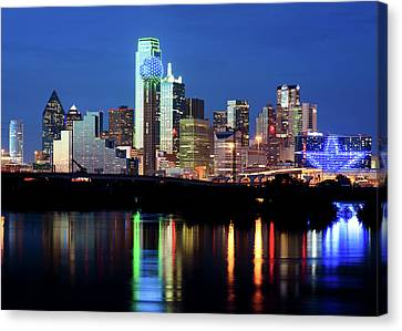 Dallas Star Night 012517 Canvas Print by Rospotte Photography