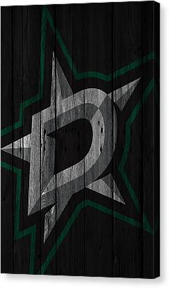 Dallas Stars Wood Fence Canvas Print by Joe Hamilton