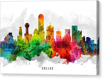Dallas Texas Cityscape 12 Canvas Print by Aged Pixel