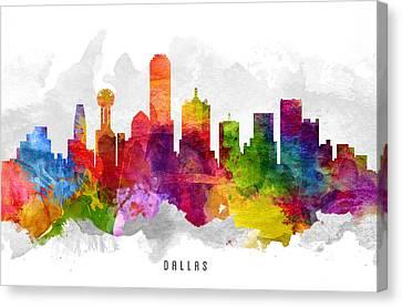 Dallas Skyline Canvas Print - Dallas Texas Cityscape 13 by Aged Pixel