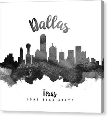 Dallas Skyline Canvas Print - Dallas Texas Skyline 18 by Aged Pixel