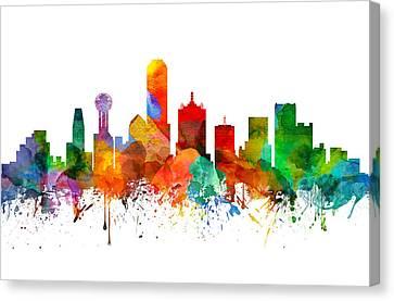 Dallas Texas Skyline 21 Canvas Print