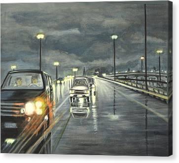 Dallas Traffic Canvas Print