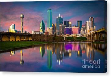 Dallas Twilight Canvas Print by Inge Johnsson