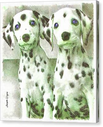 Dalmatian Brothers - Da Canvas Print by Leonardo Digenio